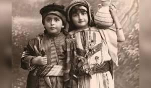 ילדים פלסטינים לבושים ב'זברה', ב-1924