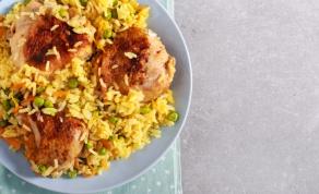 תבשיל עוף, אורז וירקות בתיבול ארומטי מהמם