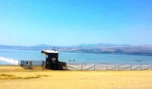 רחיצה נפרדת בכנרת - גם בחלק מ'חוף גולן'
