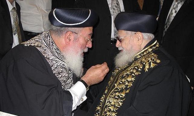 """הרב שלמה עמאר עם מרן הגר""""ע יוסף"""
