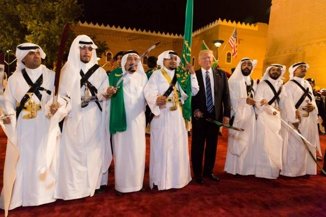 טראמפ עם מנהיגים ערבים בסעודיה