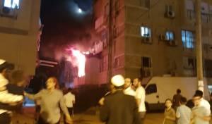 שריפה בבני ברק: דירת מגורים נשרפה כליל