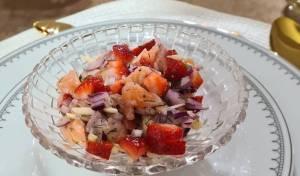 סביצ'ה סלמון עם תותים