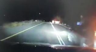 צפו: מרדף משטרתי לילי אחר גנבי הרכבים