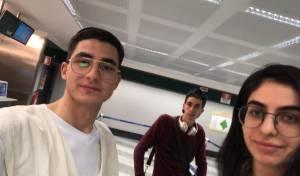 בני המשפחה בשדה התעופה