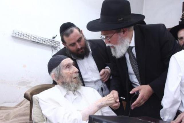 """הרב אלטמן עם מרן הגראי""""ל שטיינמן"""