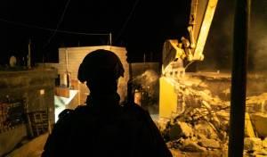 """הריסת בית אחד המחבלים שרצח את דביר שורק הי""""ד"""