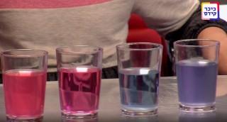 כך תִּצְּרוּ מים צבעוניים • ניסוי מפתיע בכוסות