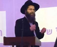 """נאום הרב אשכנזי - מחולל סערה בכפר חב""""ד"""