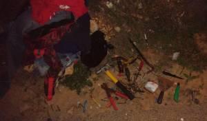כלי התקיפה שאותרו ברשות הפלסטיני