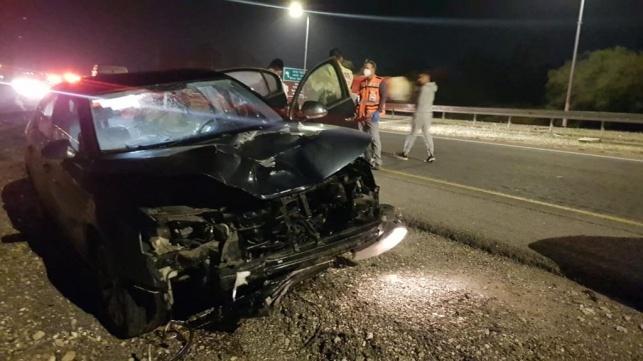 אחד הרכבים בתאונה