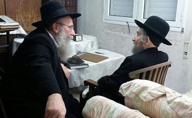 הגאון רבי ברוך סולובייצ'יק עם מרן הרב שטיינמן