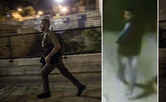 המחבל כפיש תועד במצלמות האבטחה וסריקות המשטרה