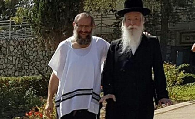 אהרונוב, עם הרב גרוסמן