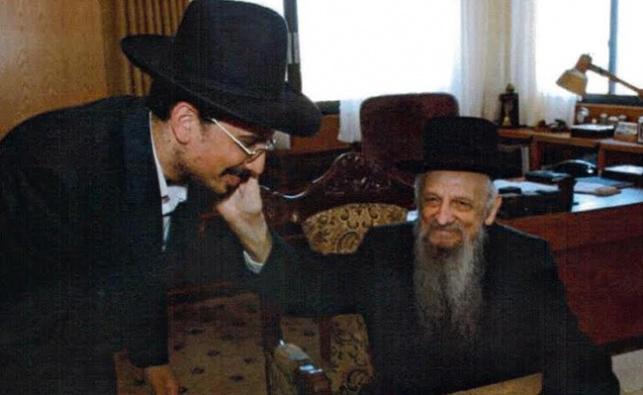 """כותב השורות, דני כהן, עם הרבי זצ""""ל"""