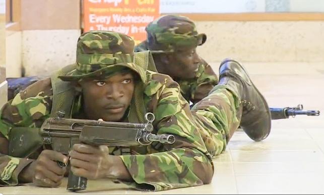 כוחות הביטחון הקנייתים בקניון