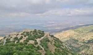 הנוף ממבצר נמרוד בגולן