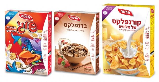 תלמה מפחיתה  את כמות הסוכר בדגני הבוקר בישראל