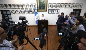 מסיבת העיתונאים של שרת החוץ של גואטמלה