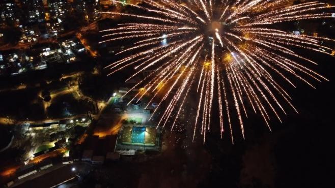 הרחפן תיעד: הזיקוקים מעל עיר אלעד • צפו