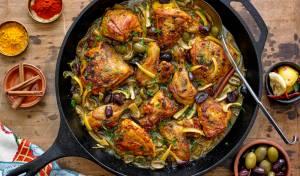 טאג'ין עוף עם זיתים ולימון כבוש