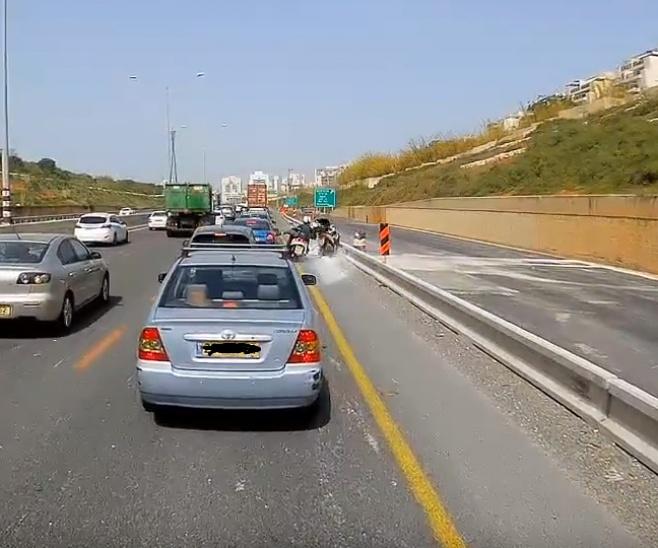 רגע התאונה, מתוך הסרטון