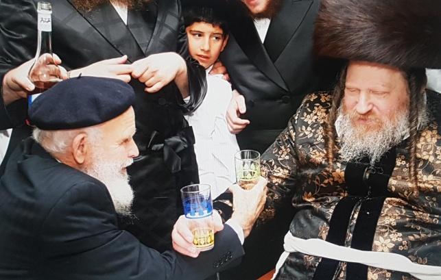 """הרבי מפיטסבורג עם רבי שמעון זצ""""ל"""