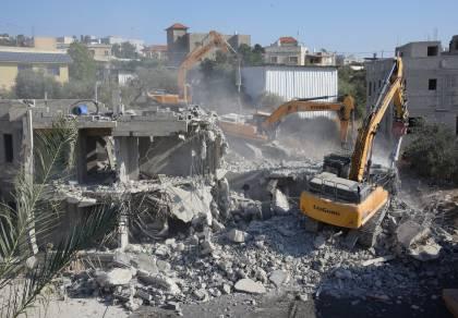 תיעוד: כך הרסו מבנה לא חוקי בכפר קרע