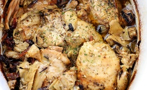 פרגיות עוף ותחתיות ארטישוק - סעודת חג עם השפית: פרגיות ותחתיות ארטישוק