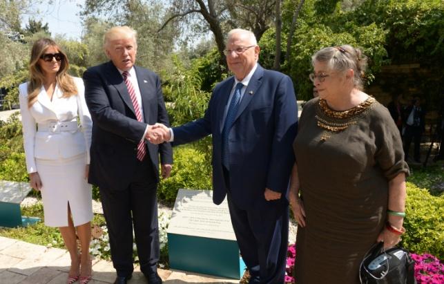 הזוג טראמפ בגינה הנשיאותית