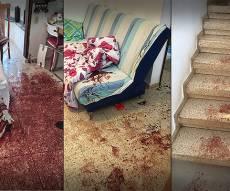 זירת הפיגוע הרצחני בליל שבת - בסעודת שבת: מחבל ערבי חדר לבית ורצח שלושה בני אדם
