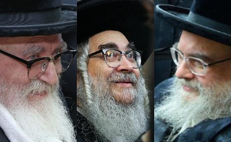 """האדמו""""רים מבעלזא, סאטמר וסקווירא - האדמו""""רים התגייסו לקמפיין של ויז'ניץ"""