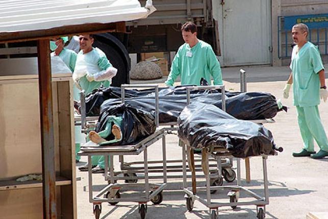 גופות מחבלים בכניסה לאבו כביר