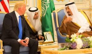 מלך סעודיה מארח את טראמפ