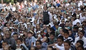 """תלמידים חרדים. אילוסטרציה - החינוך העצמאי: לקרוא תהילים בערב ר""""ח"""