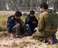 לוחמים עצרו ילדים שחצו את הגבול עם סכין