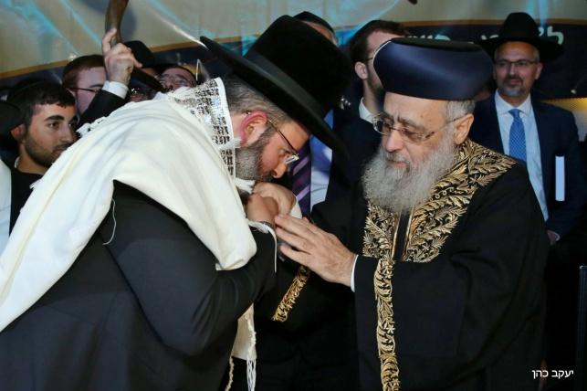 ההכתרה של הרב יצחק לוי לרבנות נשר