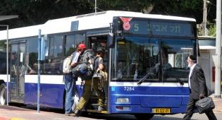 גידול במספר משתמשי התחבורה הציבורית