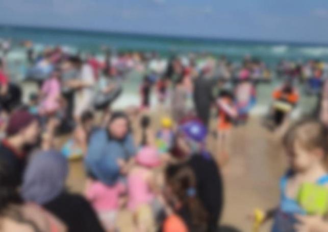 התמונה שפרסם ברוט מהחוף הנפרד