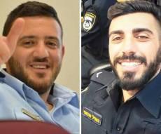 האיל סתאווי מימין, כמיל שנאן משמאל - שני שוטרים נרצחו הבוקר בפיגוע בהר הבית