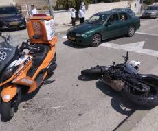 צעיר חרדי שרכב על אופנוע - נפצע בינוני