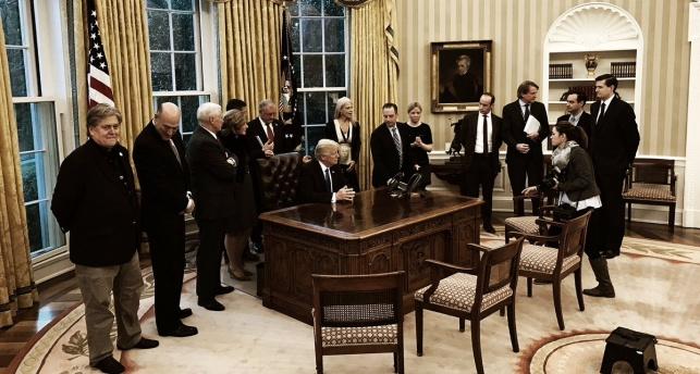 טראמפ במסיבת העיתונאים