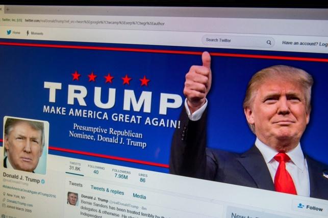עמוד הטוויטר של דונלד טראמפ