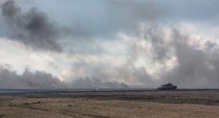 אימון של הצבא האוקריאני בשבוע שעבר - אוקראינה הפסיקה את החשמל לבדלנים