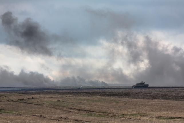 אימון של הצבא האוקריאני בשבוע שעבר
