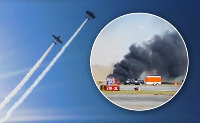 אסון מול המצלמות: מטוס התרסק במפגן אווירי