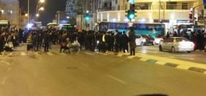 מעצר מפגין בירושלים - מפגיני 'הפלג' שיבשו את התנועה בי-ם