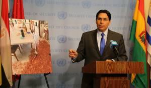 """התמונה - והנאום - האו""""ם יזדעזע? תמונת הטבח הוצגה באולם"""