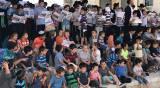 ילדי 'סנהדרין' הפגינו נגד ניר ברקת • צפו