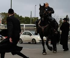 הפגנה. ארכיון - אנשי 'הפלג הירושלמי' מאיימים: נשבש את מרתון ירושלים